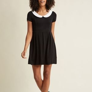 Modcloth Peter Pan Collar Black Dress